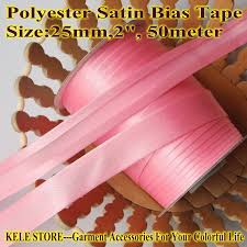 satin bias free shippment polyester satin bias bias binding size 2 5cm