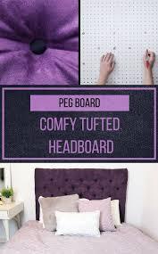 Diy Fabric Tufted Headboard by Best 25 Diy Fabric Headboard Ideas On Pinterest Padded Fabric