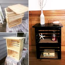 Nightstand Diy Crate Nightstand 30 Pallet Craft Ideas Pinterest Crate
