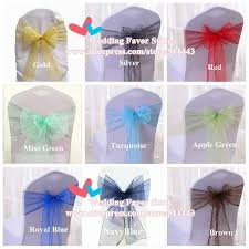 turquoise chair sashes 100pcs royal blue organza chair sashes wedding chair cover bow