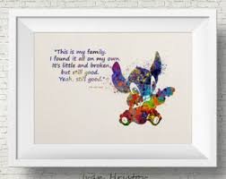 stitch lilo u0026 stitch disney watercolor art print giclee