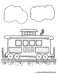 caboose coloring page create a printout or activity