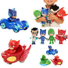 pj masks gekko catboy owlette plush doll vehicle car toys stuffed