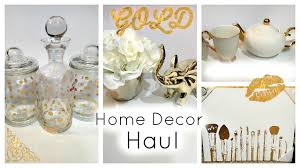 Bianca Home Decor by Huge Home Decor Haul Gold And White Youtube