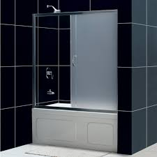 Frosted Glass Shower Door by Infinity Bathtub With Modern Dreamline Infinity 60 Inch Frosted