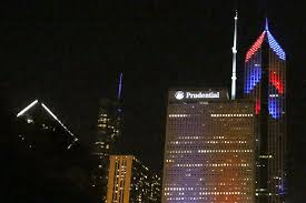city of chicago red light settlement chicago buildings light up for the cubs postseason chicago tribune