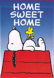 peanuts snoopy with his friend woodstock home sweet