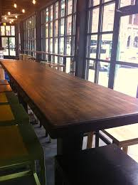 counterev reclaimed wood table as seen in the new philadelphia
