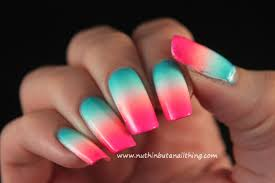 nuthin u0027 but a nail thing bright blue and pink gradient