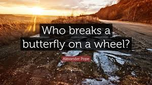 pope quote who breaks a butterfly on a wheel 12
