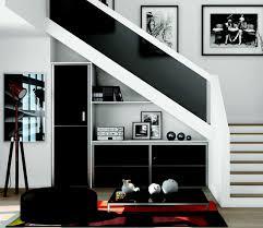 Placard Sous Escalier Avec Tablettes Rangement Sous Escalier Avec Retour Escalier