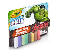 8 ct incredible hulk washable sidewalk chalk color heroes