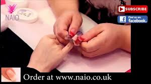 french manicure for short bitten nails youtube