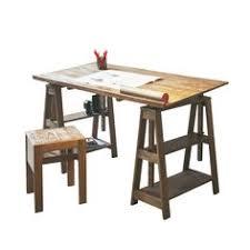 bureau architecte alinea console en acacia sur roulettes brun blanchi cocto les consoles
