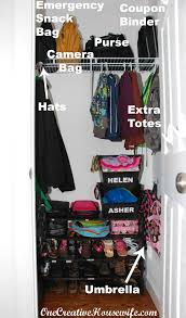 one creative housewife getting our coat closet ready for