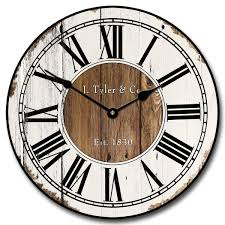 Wooden Wall Clock by Rustic Wood Wall Clock Antique Looking Wall Clocks Large Wall