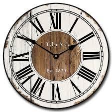 rustic wood wall clock antique looking wall clocks large wall