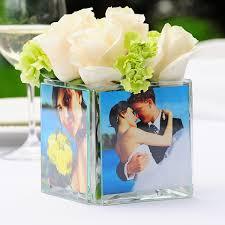 Clear Glass Square Vase Medium Square Vase Wedding Centerpiece