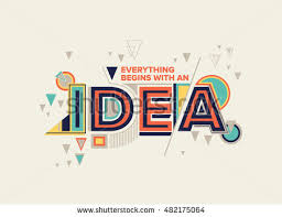 idea modern typography design geometrical style stock vector