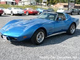 1975 bright blue corvette t top stingray for sale