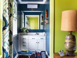 blue and green kitchen bold beautiful powder room makeover hgtv