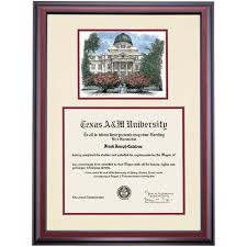 a m diploma frame am premier the academic building watercolor diploma frame