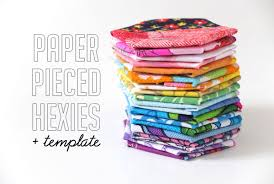 how to paper pieced hexies template my poppet makes