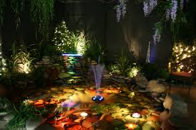 fairfield garden center u0027s indoor night time pond display garden