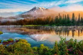 Washington scenery images Image washington usa cascade range fog nature mountains lake jpg