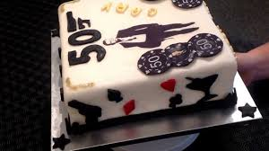 james bond 007 theme birthday cake 50th youtube