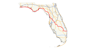 Orlando Traffic Map by U S Route 98 In Florida Wikipedia
