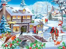 the house of puzzles 500 piece jigsaw puzzle winter walk