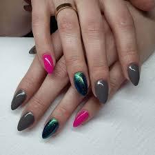 18 yellow and grey nail designs gray short nails with neon yellow