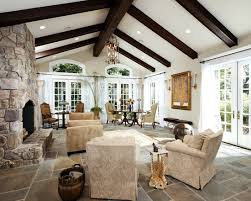 Living Room Ceiling Beams Traditional Living Room Exposed Beams Design Pictures Remodel