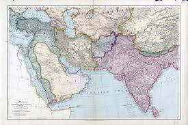 Map Of Asian Countries Large Scale Detailed Old Map Of The Countries Between