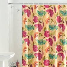 Colorful Fabric Shower Curtains Buy Fabric Shower Curtain With Ombre Floral Moroccan Pattern