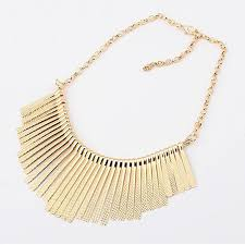 short necklace chains images Fashion classic fan shaped short tassel design chain necklace jpg