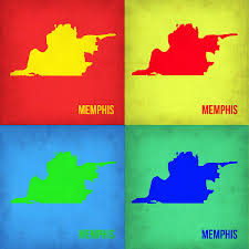Memphis Map Memphis Pop Art Map 1 Painting By Naxart Studio