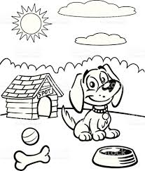 coloring book of puppy stock vector art 165611302 istock