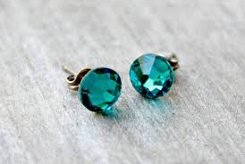 titanium earrings sensitive ears titanium earrings swarovski blue zircon swarovski