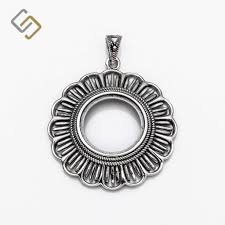 necklace stone setting images Round setting pendants archives silviafindings jpg