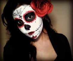 half face halloween makeup ideas day of dead makeup tutorial youtube