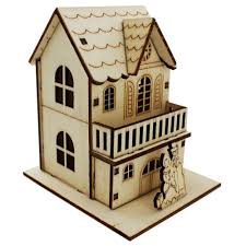 light up led wooden house assorted christmas decorations at
