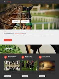 horse racing html template horse racing website templates
