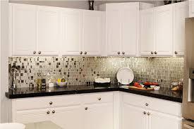 Glass Mosaic Tile Black And White Kitchen Backsplash  Marissa Kay - Black backsplash