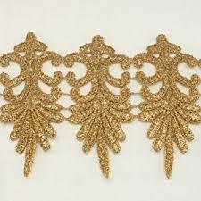 gold lace ribbon gold metallic lace trim metallic ribbon trim by the