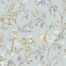 new holden décor damsen floral pattern bird countryside metallic
