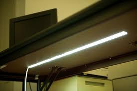 4nfls x2160 24v flexible light strip installed under a desk for accent light