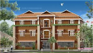 good duplex homes on duplex house elevation 2425 sq ft indian home
