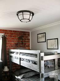Kids Room Lighting Fixtures by Teen Boys U0027 Room Reveal Vintage Industrial Style Prodigal Pieces